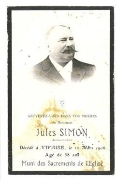 Photo de Jules Simon, propriétaire du moulin, il n'a jamais travaillé comme meunier.