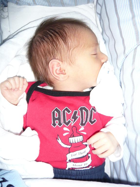 Mein Sohn, schon mit gutem Musikgeschmack...