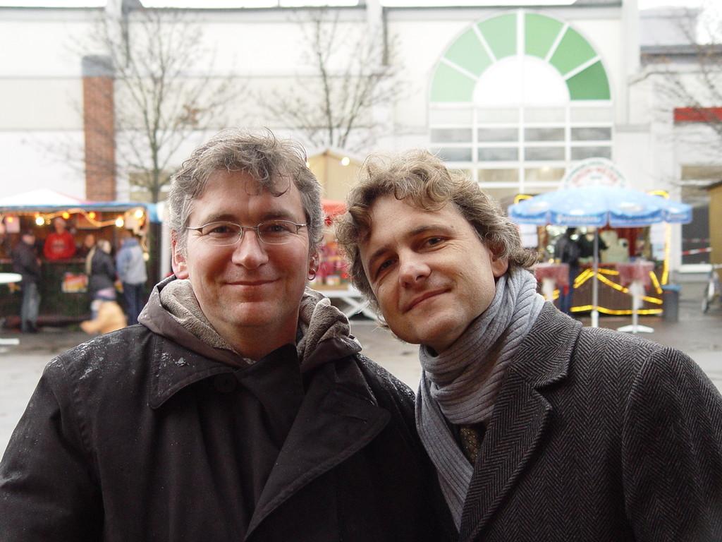 Mit unserem MdL Dr. Frank Mentrup  - schlechtes Wetter, die Frisur sitzt.