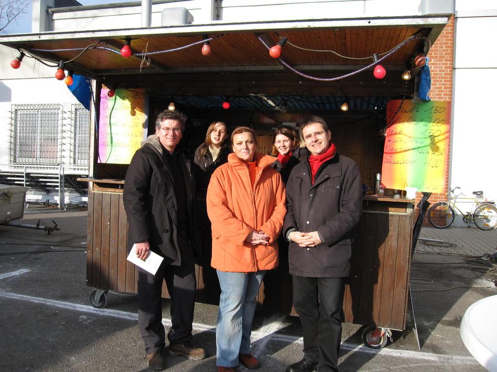 Mit Stadträtin Andrea Safferling und SPD-Fraktionschef Dr. Fulst-Blei.