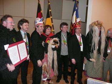 """Bei der Verleihung des """"Rote Socken Ordens""""..."""