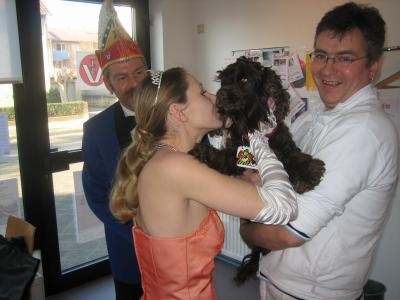 ...und auch Lea bekam einen Orden von Prinzessin Stephanie :-)