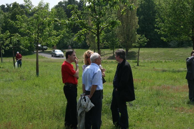 ...und im Gespräch mit den Stadträten Andrea Safferling, Dr. Fulst-Blei, Prof Horst Wagenblaß.
