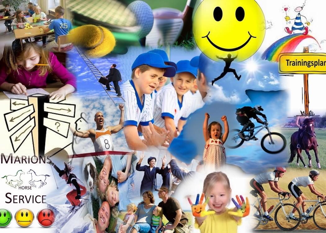 in Sport Beruf /Schule sowie in Famillie und Freizeit