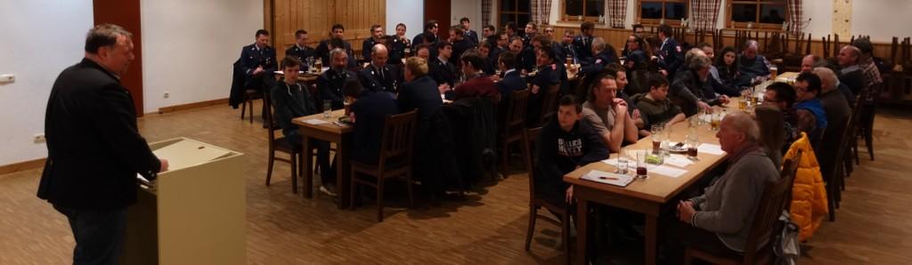 Hauptversammlung Feuerwehr Ermengerst 2019 - Versammlung