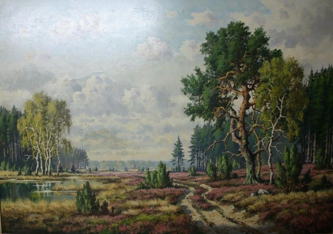 Gemälde erinnert an die alte Heidelandschaft