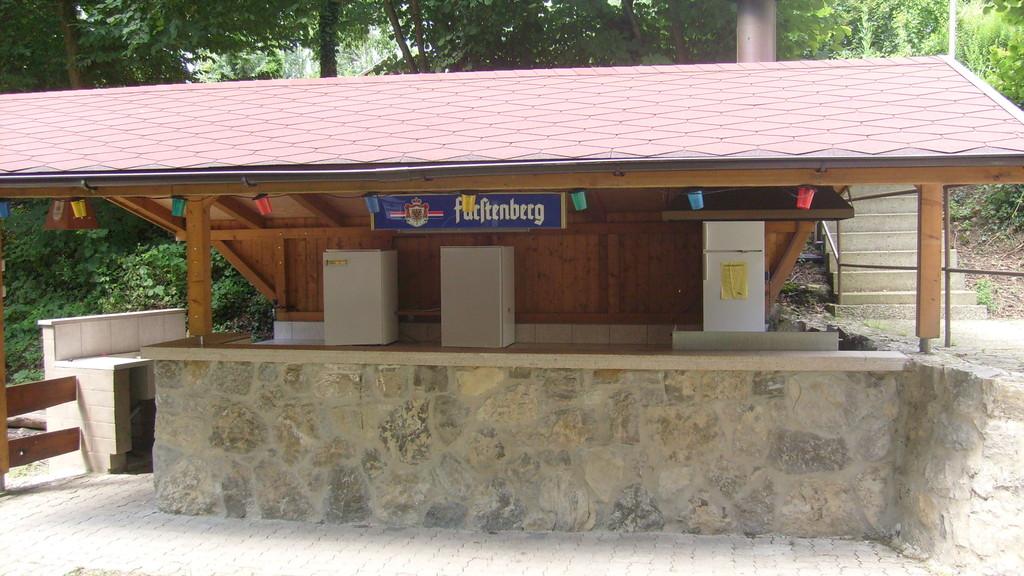 Grillstation und Theke