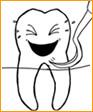 Abbildung lachender Zahn