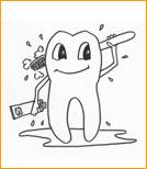 Abbildung sich putzender Zahn