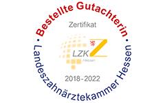 Bestellte Gutachterin Landeszahnärztekammer Hessen