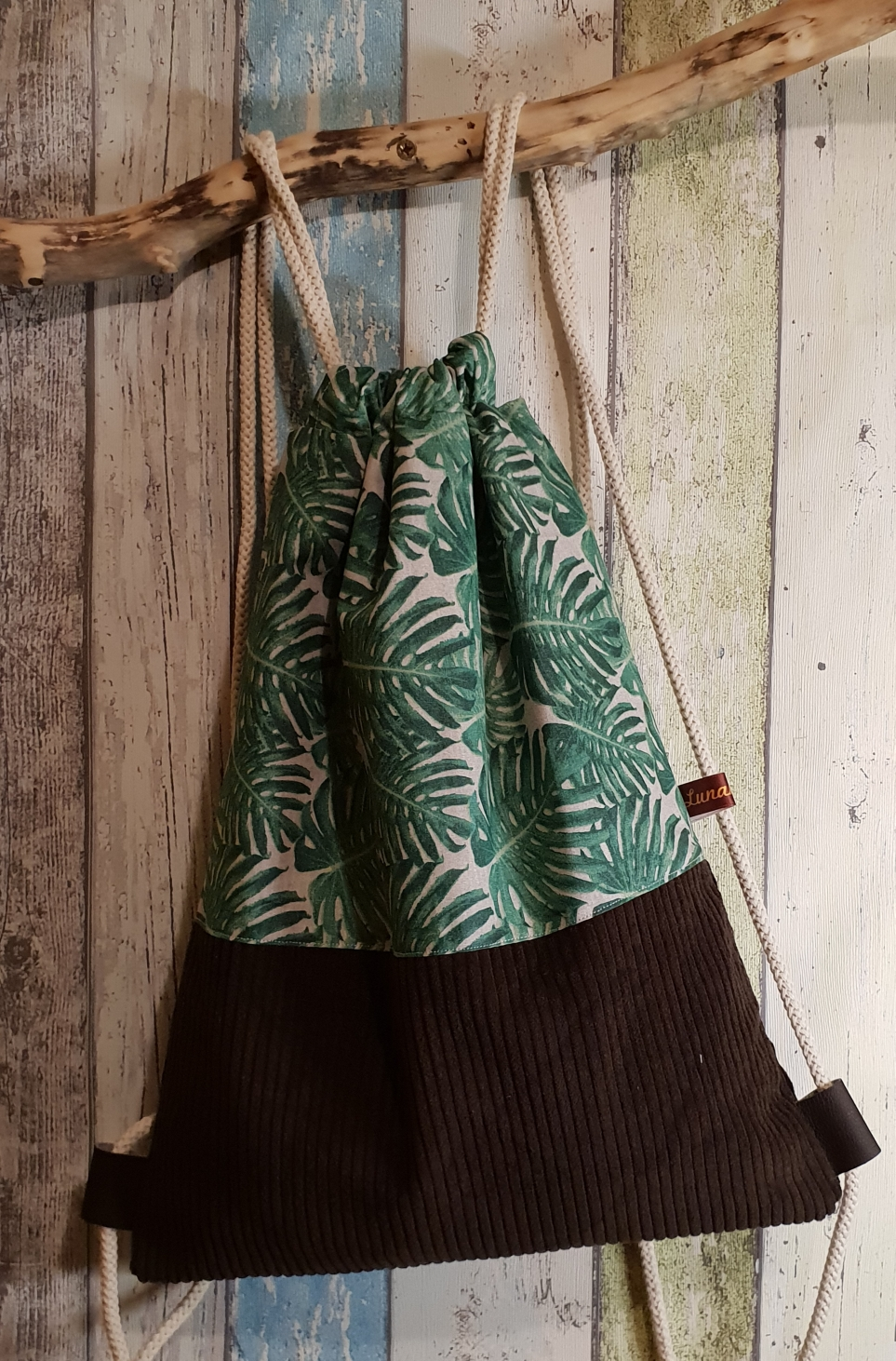 Blätter/Cord braun