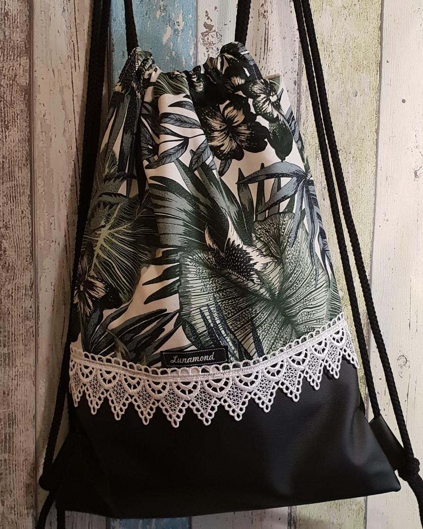 Dschungel/Leder schwarz