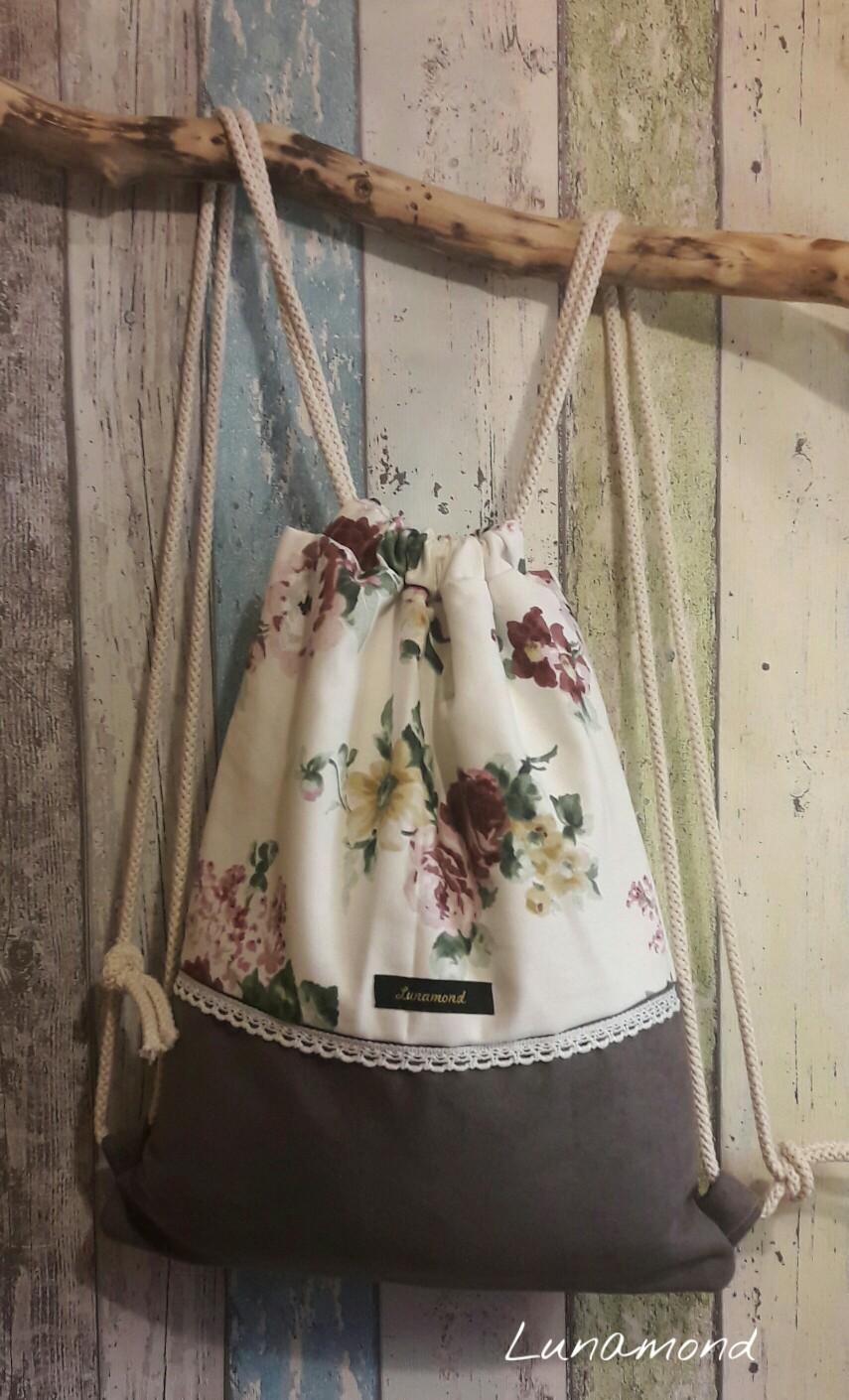 Beutel Wildleder/Blumen