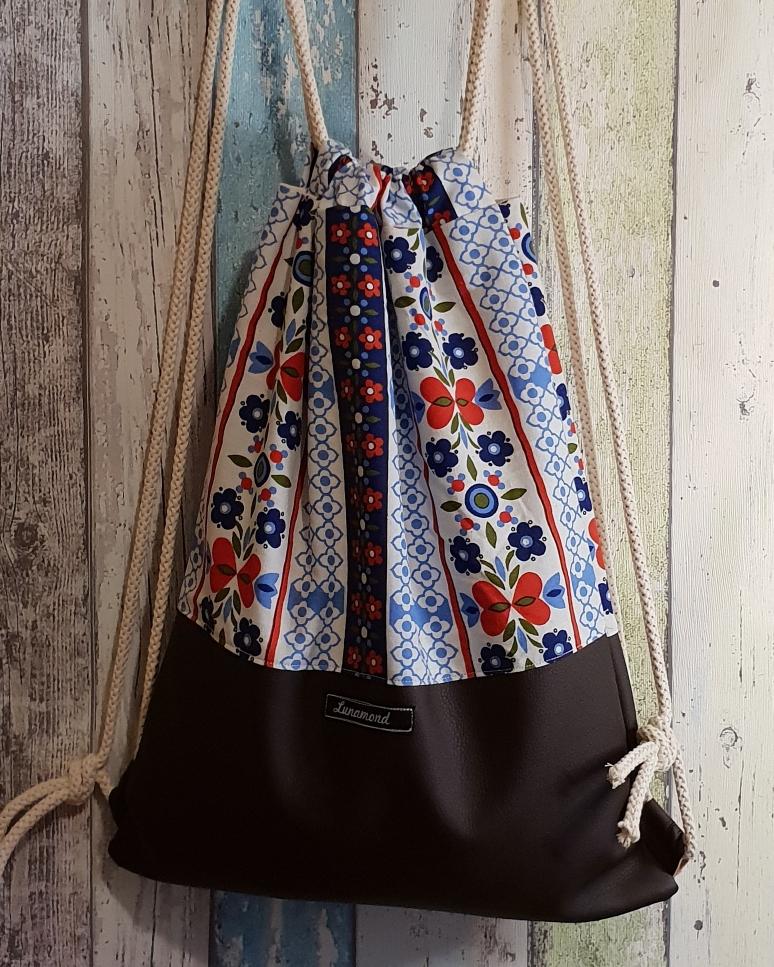 Blumen vintage/Leder braun