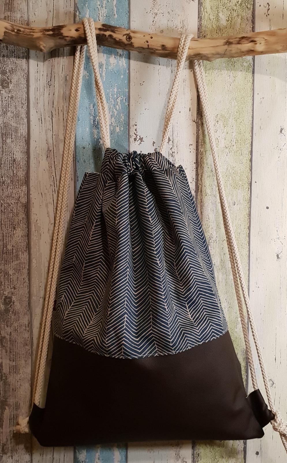 Muster/Leder braun