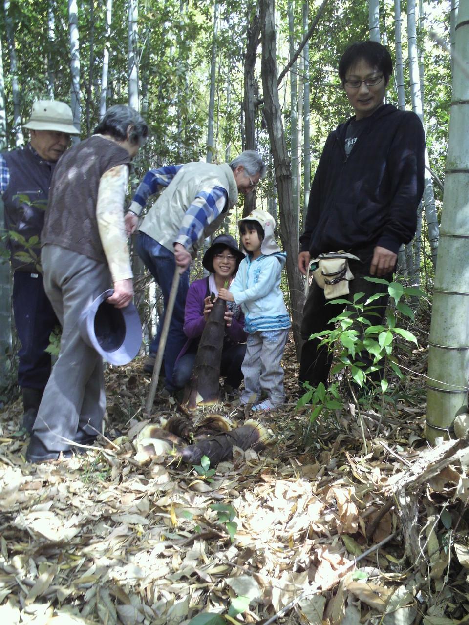 竹の子掘りのお客様