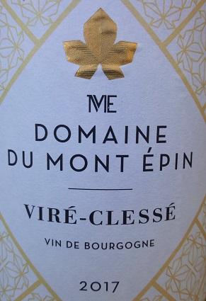 chardonnay viré clessé domaine du mont épin