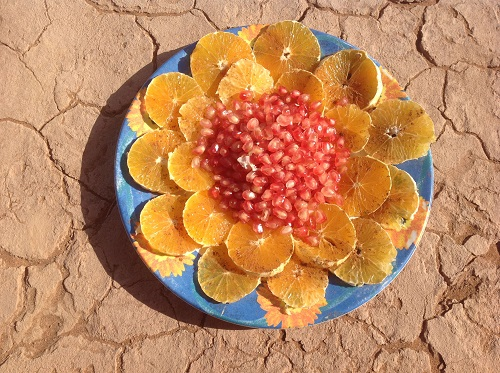 assiette dessert lors d'un trek désert