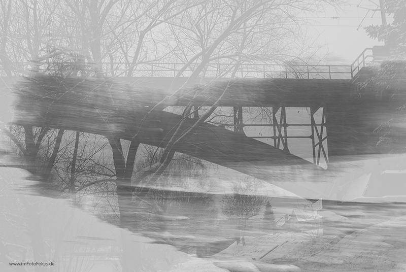 Eisenbahnbrücke vs. Bachlauf