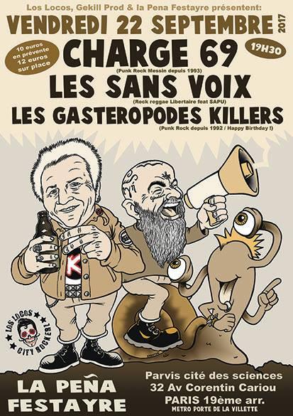 Affiche du concert des Sans Voix & co le 22 septembre à la Pena Festayre à Paris