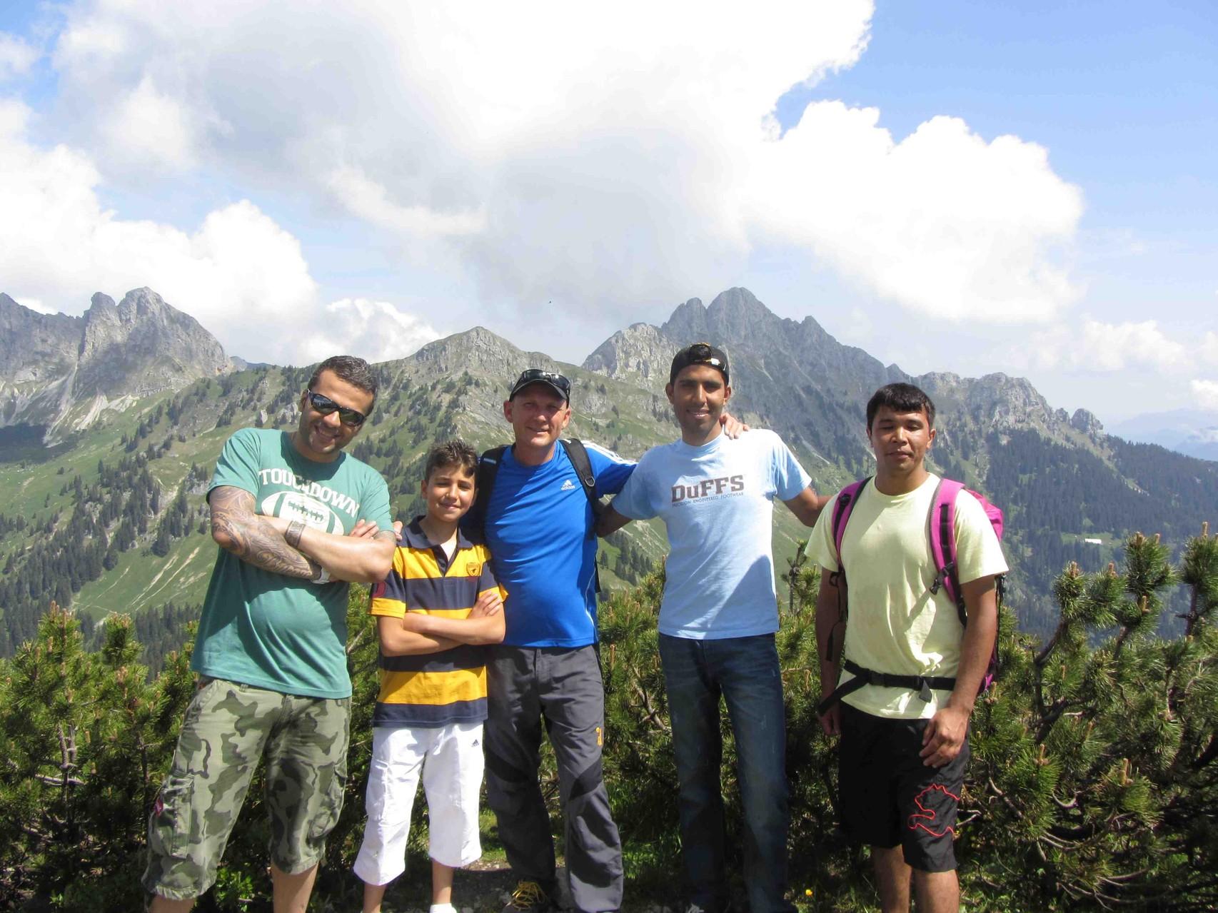 Am Gipfel des Talkessels - Hahnenkamm - in Reutte