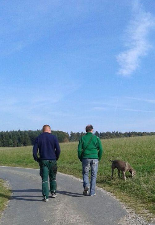 Spaziergang mit unseren Hunden,Bo und Michael