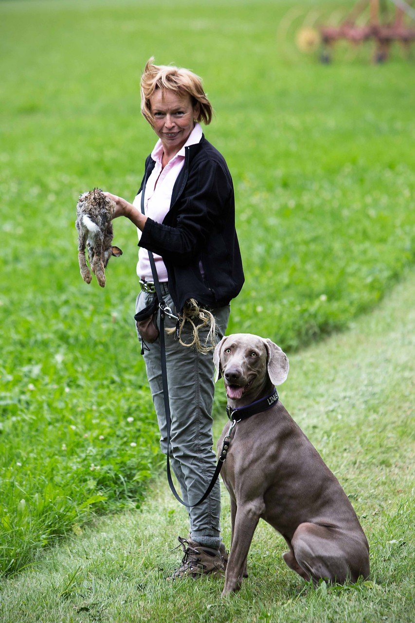 Bayko mit Frauchen Erika