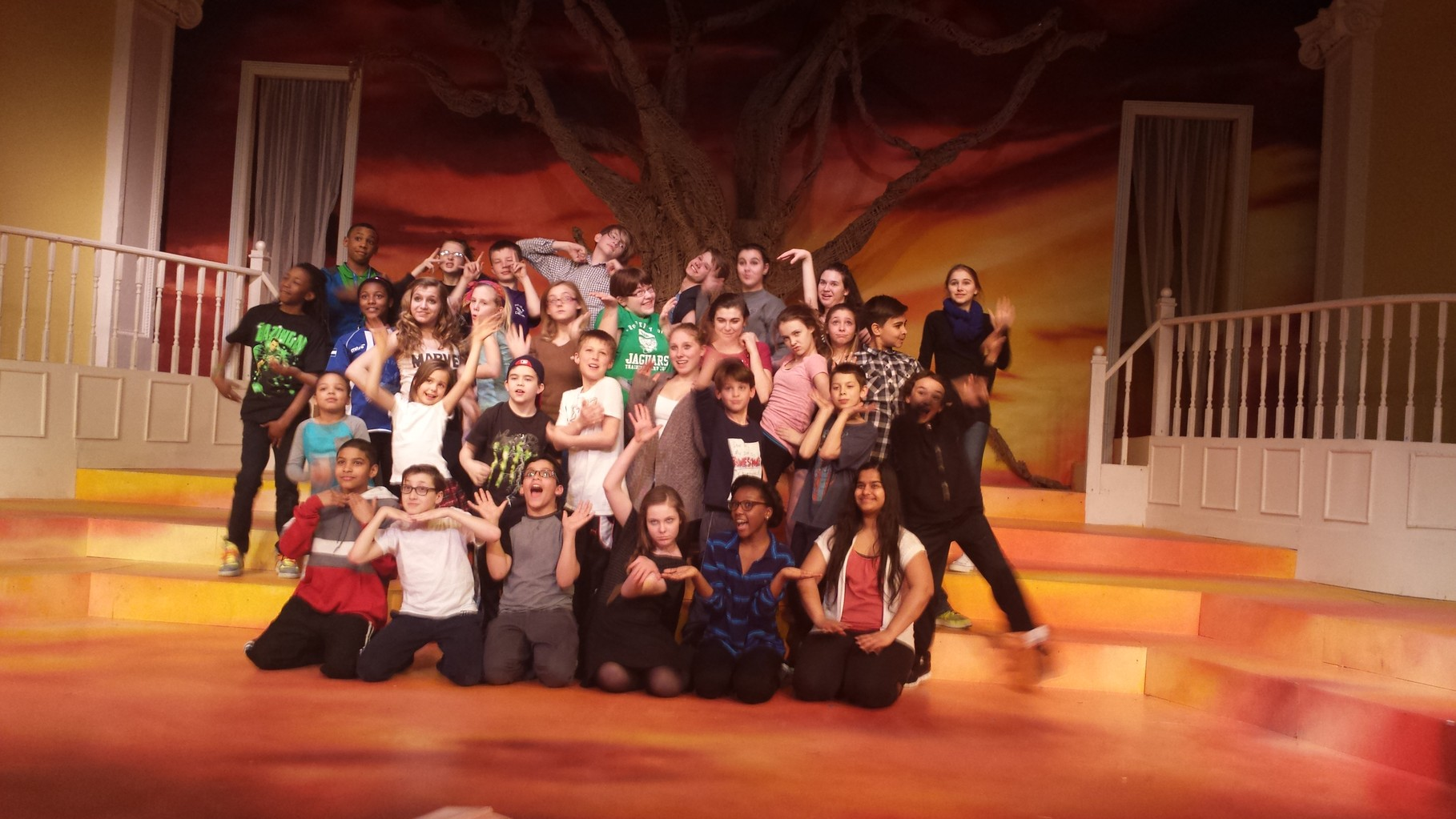 "Cast of ""Once On This Island, Jr"" at Near West Theatre"