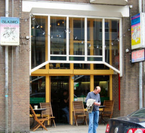 coffee shop blue bird amsterdam