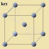 kubisch-raumzentrierte Kristallstruktur (krz)