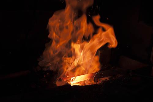 Eisen im Schmiedefeuer