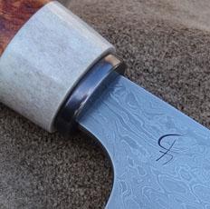 Damastmesser mit Shakudoplatte