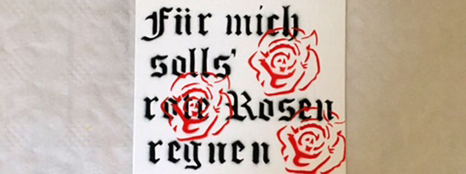 Marymee Stencil red roses