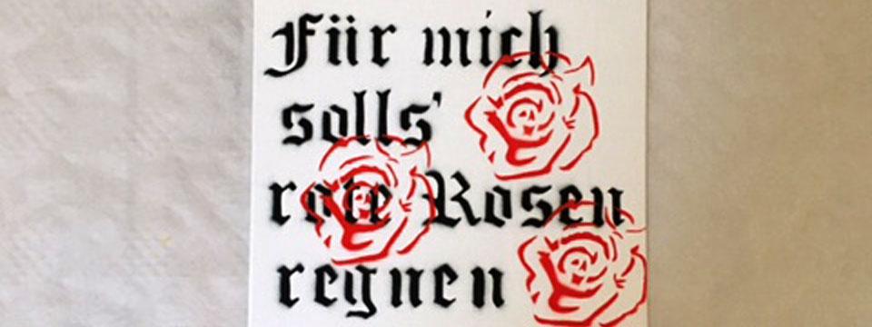 MaryMee Stencil Rote Rosen Hamburg