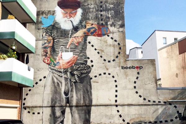 beepop mural schanze ipod sailor twitter painting