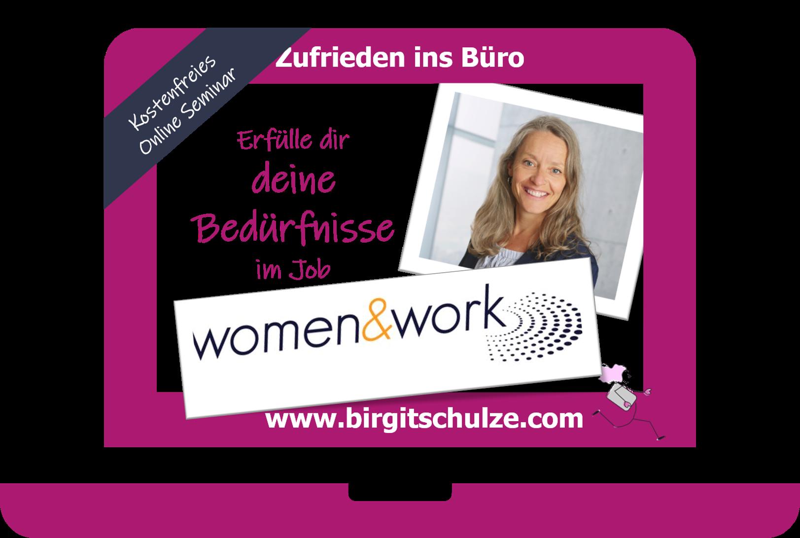 Kostenfreies Weinbar: Erfülle dir deine Bedürfnisse im Job.  In Kooperation mit der women&work