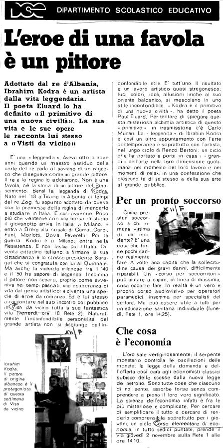 Burimi : Radiocorriere, 27 tetor 1979, f.150