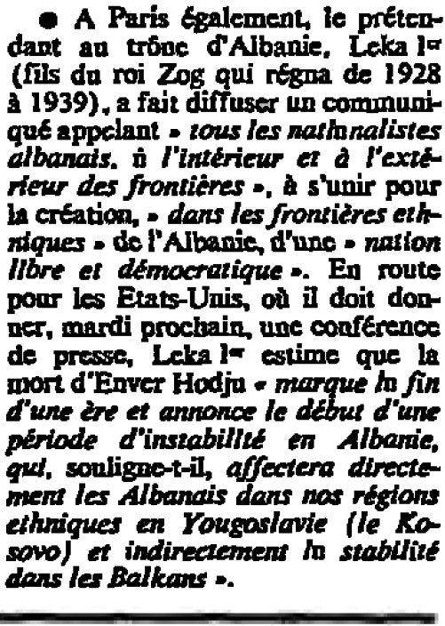 Burimi : Le Monde, prill 1985, f.3