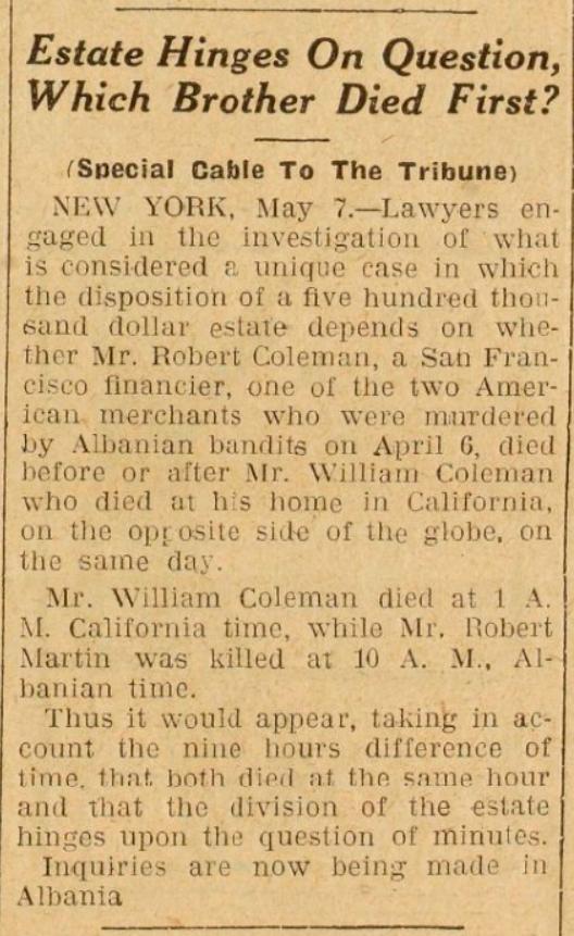 Burimi : The Chicago Tribune, e enjte, 8 maj 1924, Ballinë