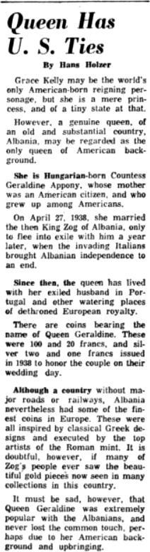 Burimi : Coin World, e enjte, 8 dhjetor 1960, f.2