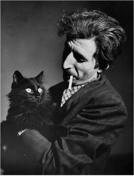Gjon Mili dhe macja e tij Blackie