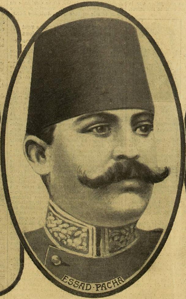 Esat Pasha (Excelsior, 8 shkurt 1913, Ballinë) - Burimi : gallica.bnf.fr / Bibliothèque nationale de France