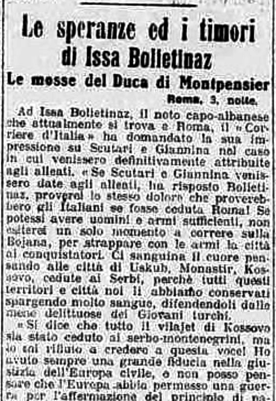 Burimi : La Stampa, e premte, 4 prill 1913, f.2