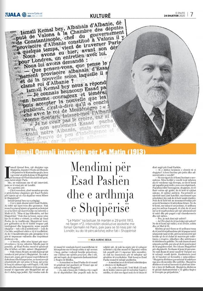 "Gazeta ""Fjala"", e enjte, 24 dhjetor 2020, f.7"
