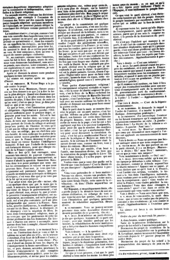 Burimi : L'Ordre, 16 janar 1850, f.10 – gallica.bnf.fr / Bibliothèque nationale de France