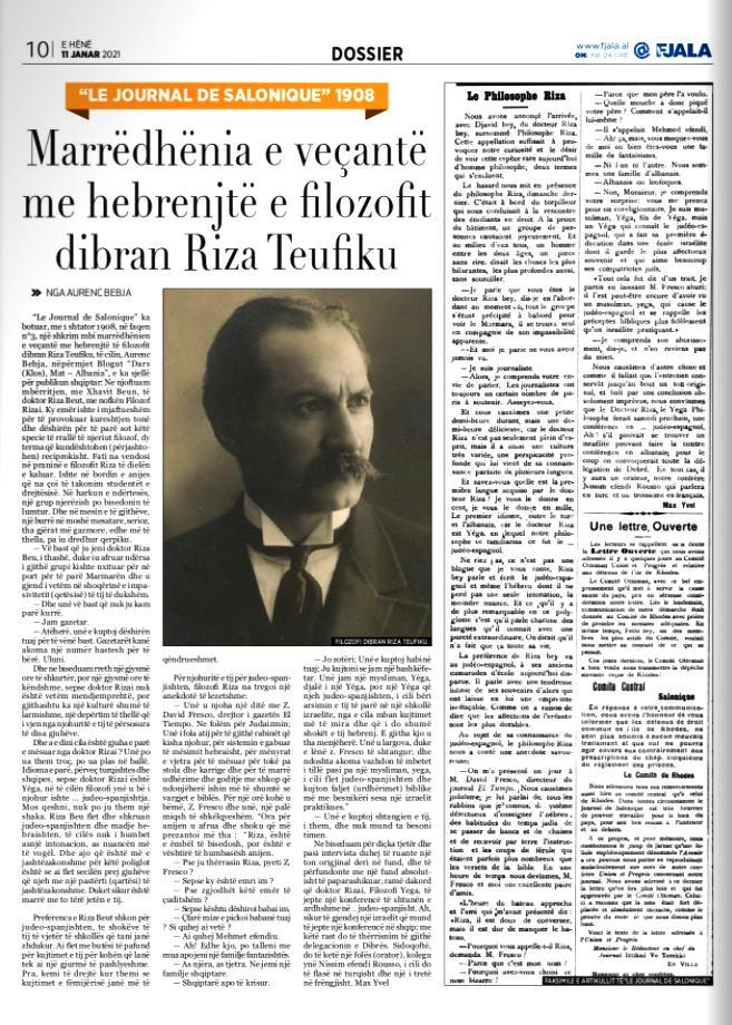 Gazeta Fjala, e hënë, 11 janar 2021, f.10