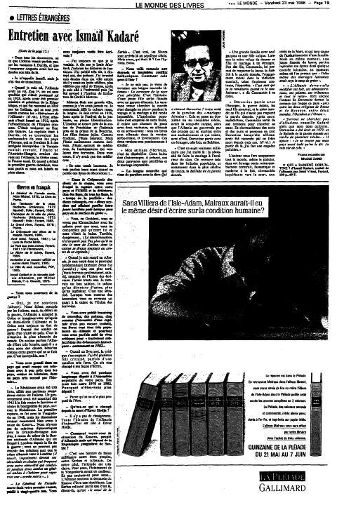 Burimi : Le Monde, e premte, 23 maj 1986, f. 19