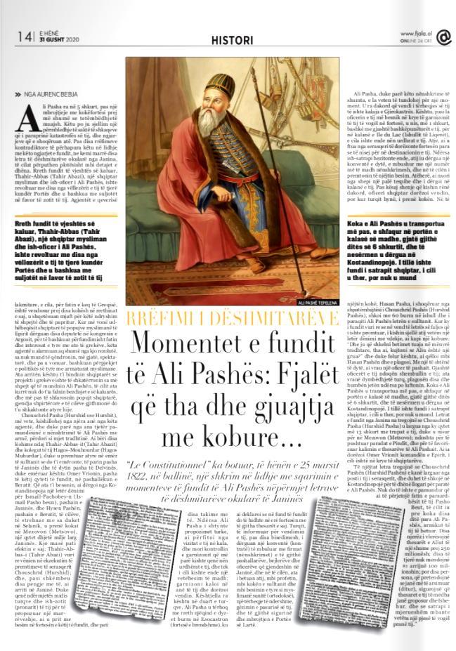 Gazeta Fjala, e hënë, 31 gusht 2020, f.14