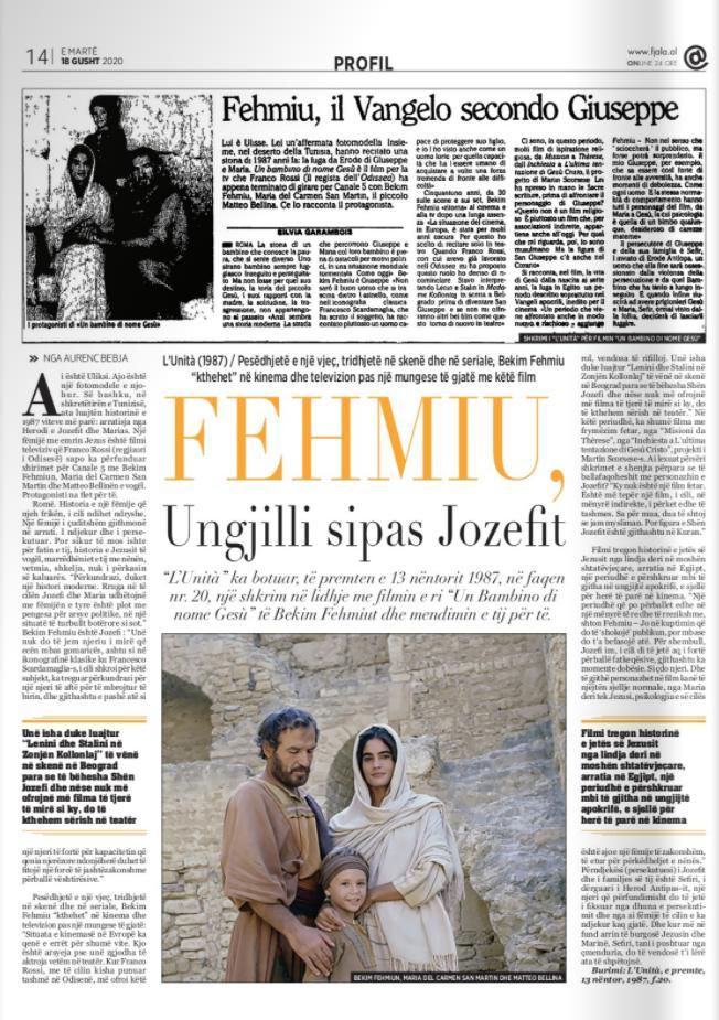 Burimi : Gazeta Fjala, e martë, 18 gusht 2020, f.14