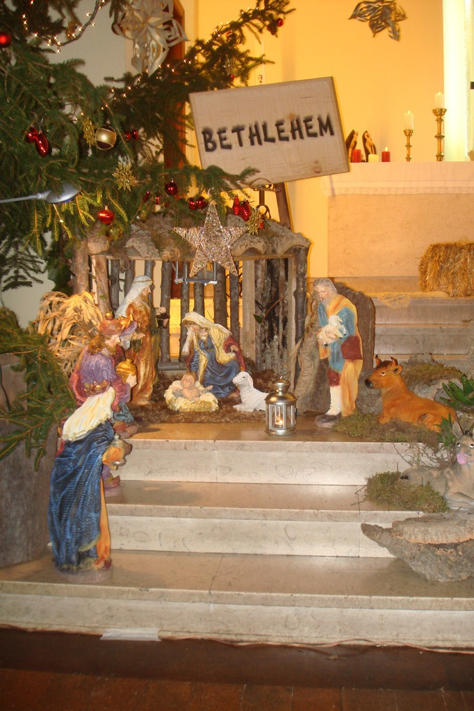 Weihnachtskrippe in der Kirche